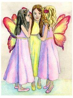 Fairy Secrets Watercolour painting Original Art
