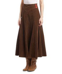 Another great find on #zulily! Brown Corduroy A-Line Skirt #zulilyfinds