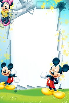 Create Your Own Mickey Mouse Invitations Free Elegant Pin by Dagny Albertsd On Projects to Try Mickey Mouse And Friends, Mickey Minnie Mouse, Photo Png, Frames Png, Scrapbook Da Disney, Snow White Coloring Pages, Disney Frames, Boarders And Frames, Printable Frames