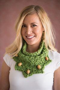 Bandana Cowl - A chunky #beaded #cowl pattern from Love of #Crochet magazine