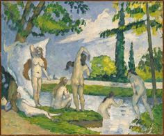 Photo Mug-Bathers, Creator: Paul Cezanne-Ceramic dishwasher safe mug made in the UK Paul Cézanne, Cleveland Museum Of Art, Art Institute Of Chicago, National Gallery Of Art, Art Gallery, Paul Cezanne Paintings, Image Nature, Impressionist Paintings, Landscape Paintings