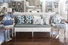 Furniture arranged behind sofa
