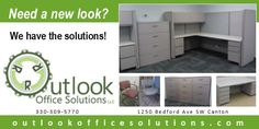 Create a new look for your business today by using quality used, refurbished or recycled office furniture. Used Office Furniture, Furniture Outlet, Cabinet, Create, Storage, Business, Home Decor, Clothes Stand, Purse Storage