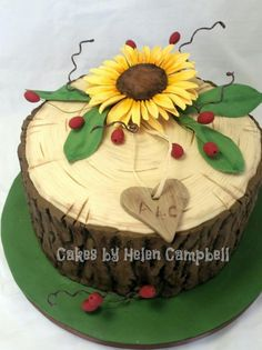 sunflower wedding cake - Cake by Helen Campbell