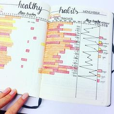 """787 Likes, 13 Comments - Inga (@ingasbujo) on Instagram: """"my november #healthy #habits  do you have something in your bujo to track your sleep and workouts?…"""""""
