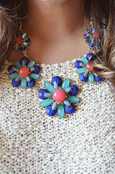 statement necklaces are perf