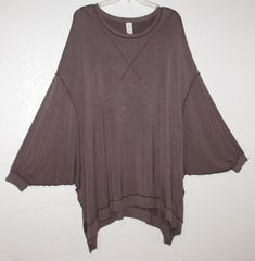 3579899eb88199 Details about We The Free People Tunic M 1XL 2X Batwing Dolman Boho Gypsy  Lagenlook Top Dress