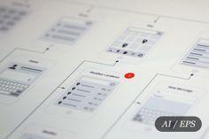 mobile app visual chart product mockup parts