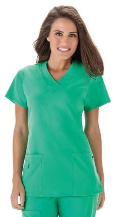 3048ed278a7 JOCKEY™ Scrubs Short Sleeved Zipper Top Medical Scrubs, Scrub Tops, Work  Attire Women
