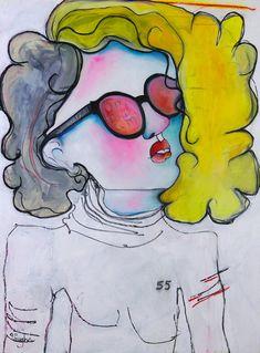 Original Oil Figurative / Illustrative painting by Liz Vaughn, on birch panel x SOLD Figure Painting, Watercolor Tattoo, Original Paintings, My Arts, The Originals, Figurative, Birch, Oil, Temp Tattoo