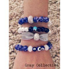 Royal Blue Evil Eye Set by GrayCollective on Etsy, $26.00