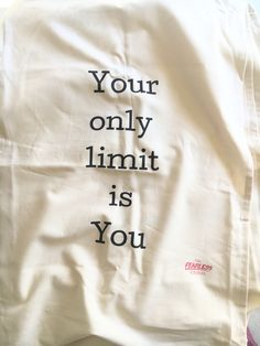 Teatowel – Your only limit is you Word Out, Travel Quotes, Tea Towels, Life Lessons, Authors, Advertising, Inspirational Quotes, How To Get, Messages