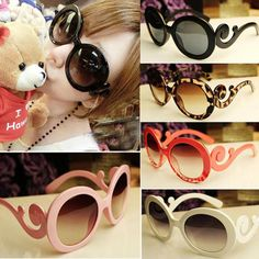 New Women Butterfly Clouds Arms Semi Transparent Retro Inspired Round Sunglasses | eBay