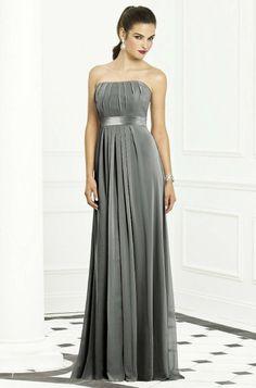 Chiffon Charcoal Gray Bridesmaid Dresses Charcoal Gray