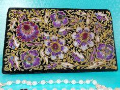 Stone work Zardosi embroidered Black velvet Silk thread by GoDoozy.com