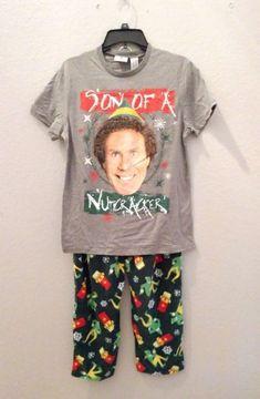 New Nwt Mens Elf Buddy Chirstmas Son of Nutcracker Pajamas Sleep Set Size  Medium  NewLineProductions 5ca2859ed
