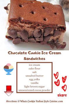 Great Desserts, Best Dessert Recipes, Frozen Desserts, Frozen Treats, Dessert Ideas, Sweet Recipes, Easy Recipes, Delicious Desserts, Ice Cream Cookie Sandwich