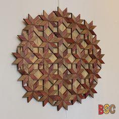 """""""Tableau Fleurs"""", réalisé uniquement avec du bois de palette (et de la colle, beaucoup de colle)."""