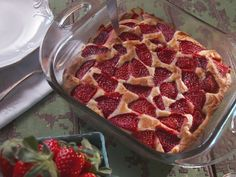 Strawberry Buckle with Vanilla Ice Cream recipe from Nancy Fuller via Food Network