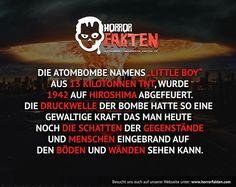 Jetzt stellt euch vor welchen druck die heutigen Atombomben haben könnten..  #horrorfakten #horror #fakten