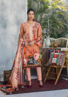 Salina Khaddar Emb Vol 2-page-011 Summer Outfits Women, Short Outfits, Summer Dresses, Latest Pakistani Fashion, Pakistani Outfits, Kurti Collection, Winter Collection, Suits For Women, Clothes For Women