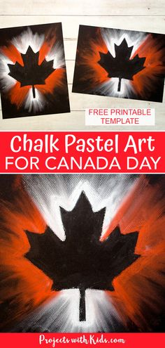 Create this stunning Canada Day chalk pastel art with only a few simple supplies! Kids of all ages will love using chalk pastels to make this super easy art project. #projectswithkids #canadadaycrafts #chalkpastels Clay Art Projects, Craft Projects For Kids, Craft Activities For Kids, Chalk Pastel Art, Chalk Pastels, Easy Art, Simple Art, Painting For Kids, Art For Kids