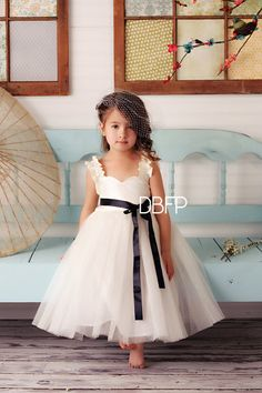 flower girl dress ivory by savethedate13 on Etsy, $85.00