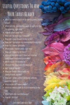 Useful Questions To Ask Your Tarot Reader by Love from Clara -Alice Tarot : tarot