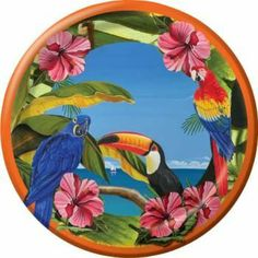 Polynesian Parrot Party 10-inch Paper Plates 8 Per Pack by Creative Converting. $3.99. Creative Converting is a leading manufacturer and distributor of disposable tableware including high-fashion paper napkins plates cups and tablecovers in a variety of solid colors and designs appropriate for virtually any event