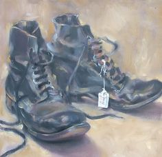 Old Boots - paintings and illustrations by Jennifer Johnson.