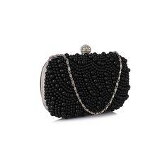 Poșetă de seară clutch satin cu mărgele negre Plus Size Fashion, Cuff Bracelets, Fashion Shoes, Womens Fashion, Blog, Jewelry, Decor, Jewlery, Decoration
