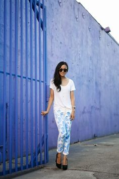 #diy printed levis - make them your own - only adds to the brand