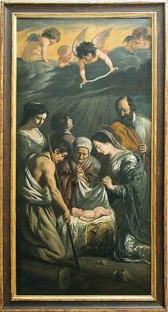 Louis LE NAIN L'Adoration des bergers  Vers 1632  Huile sur toile H. : 2,87 m. ; L. : 1,40 m. Louvre