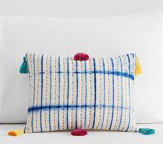 Pick Stitch Tassel Decorative Pillow #pbkids