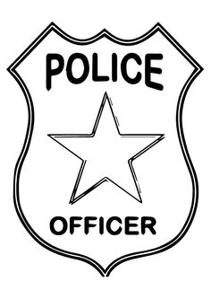Police Badge Coloring Page . 30 Unique Police Badge Coloring Page . Awesome Coloring Pages with Names Police Officer Crafts, Police Officer Badge, Police Crafts, Police Hat, Police Badges, Police Shield, Cars Coloring Pages, Coloring Pages For Kids, Preschool Coloring Pages