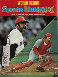 Luis Tiant, Baseball, Boston Red Sox vs Johnny Bench and the Cincinnati Reds. World Series 1975 Boston Sports, Boston Red Sox, Sports Magazine Covers, Baseball Playoffs, Football, Si Cover, Sports Illustrated Covers, Johnny Bench, Red Sox Nation