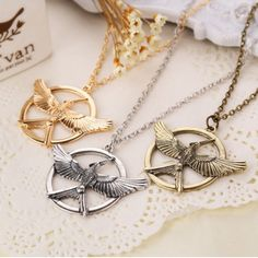 Hunger Games Mocking Jay Bird Pendant Necklace