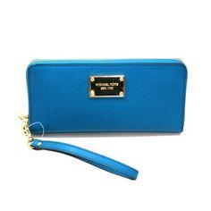 Michael Kors Saffiano Turquoise Genuine Leather Iphone Continental Zip Around Wallet/ Clutch/ Wristlet (Blue) #32S3MELE1L - http://handbagscouture.net/brands/michael-kors/michael-kors-saffiano-turquoise-genuine-leather-iphone-continental-zip-around-wallet-clutch-wristlet-blue-32s3mele1l/