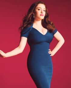 Kat Dennings looks amazing in this figure hugging dress! So beautiful :) For more curves and body acceptance, check out my blog