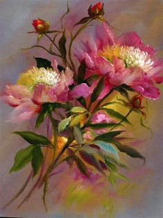 Art painting Floral Bouquet by Gary Jenkins