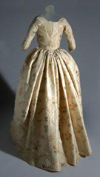 Dress. United States, England, silk 1743-1753, dress ca. 1755 altered 1770s-1790s. Silk (Spitalfields). From the Philadelphia Museum of Art: 1933-12-1