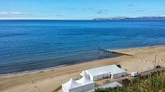 View from one of our marquees at Bournemouth Beach Weddings