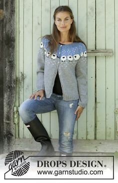 Cardigan / DROPS - Free knitting patterns by DROPS Design Knitted jacket with round yoke in DROPS Lima. The piece is worked top down with a Nordic pattern with sheep. Baby Knitting Patterns, Knitting Blogs, Knitting Charts, Knitting For Beginners, Knitting Designs, Free Knitting, Crochet Patterns, Shawl Patterns, Knitting Machine