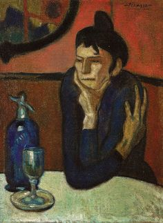 Pablo Picasso - La bebedora de absenta, 1900 at The Hermitage Museum Exhibit at the National Museum of Prado Madrid Spain