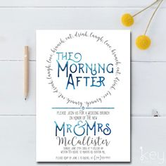 RISE and DINE Post Wedding BreakfastBrunch Invitation Celebrate