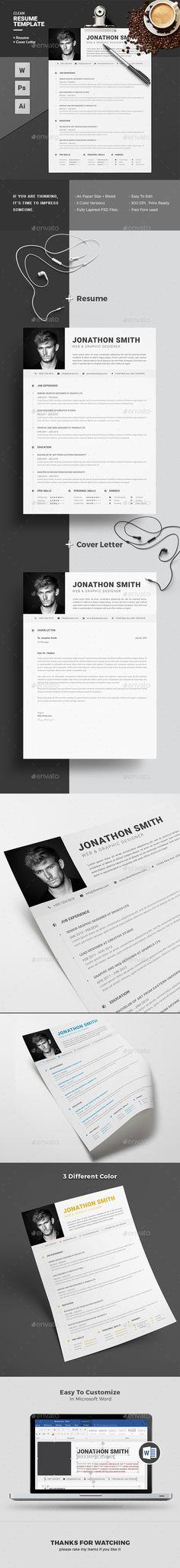 Resume Template PSD, Vector EPS, AI Illustrator, MS Word. Download here: https://graphicriver.net/item/resume/17370569?ref=ksioks