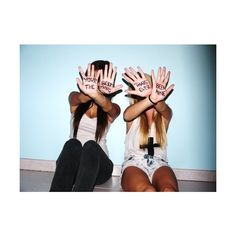 bestfriends | Tumblr ❤ liked on Polyvore featuring pictures, best friends, people, friends and pics
