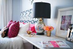 sadie + stella: Favorite Room Feature: Peonies & Brass