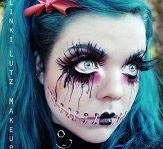 Картинки по запросу макияж на хэллоуин 2017