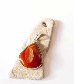 Red Druzy silver pendant, Agate, Onyx, natural stones, crystal, quartz, red…